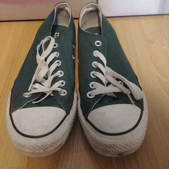 Forest Green Low Top Converse Men's 6/Women's 8